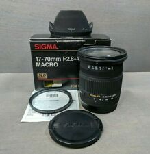 Sigma 17-70mm F/2.8-4 DC Macro Lens for Canon - plus box & warranty card