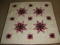 """Star Burst Quilted Wall Hanging/Lap Quilt Approx. Size: 48  x48""""- Very Nice"""