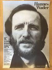 HANNES WADER 1980 WUPPERTAL   ++  orig.Concert Poster - Konzert Plakat  NEU