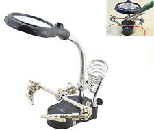 ML TOOLS Helping Hand Magnifying Soldering LED Iron Stand Lens Magnifier 8367