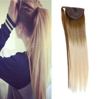 Sunny Ponytail with Magic Tape Human Hair Extension 80gr Balayage Blonde 6M613#
