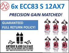 New JJ Electronic (Tesla) Precision Gain Matched SEXTET (6x) ECC83-S 12AX7 Tubes
