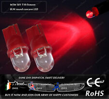 LED T10 W5W 501 Wedge Red Interior Dashboard Cluster Dome Spot Light Bulbs 12V