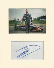 FORMULA ONE* DAVID COULTHARD SIGNED 10x8 MOUNTED DISPLAY+COA *RED BULL*