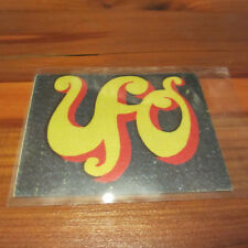 Ufo Vintage Fabric Sticker c~1976; Ultra Rare Denim Arcade Sticker; Original