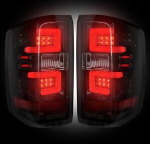 2014-2015 Chevy Silverado Rear Brake & Reverse Smoked Taillights w/ LED Bulbs