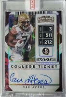 CAM AKERS 2020 Contenders Draft Picks RC College Cracked Ice Ticket Auto /23