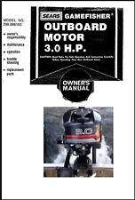 Sears Gamefisher 3HP 298.586193 Operator Maintenance Troubleshooting Part Manual