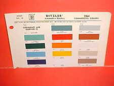 1964 CHEVROLET PICKUP FLEETSIDE STAKE TRUCK CORVAIR 95 RAMPSIDE VAN PAINT CHIPS