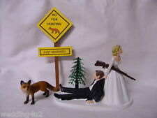 Wedding Party Reception ~Red Fox~ Hunter Hunting Cake Topper No Hunting Sign