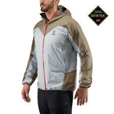 Haglofs Mens L.I.M Comp Jacket Top Grey Sand Sports Outdoors Full Zip Hooded