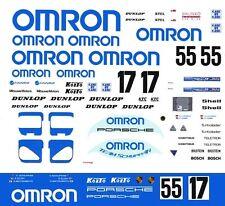 #17 or #55 OMRON Porsche 1988 - 89 1/43rd Scale Slot Car Decals