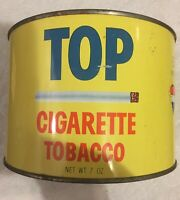 Vintage TOP 7 Oz. RJ Reynolds Tobacco Tin & TOP Rolling Papers. Empty Tin.