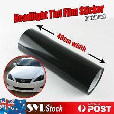 2.5M x 0.4M Headlight Tint Smoke Film Cab Ute Off-Road Fog Lamps CoveringDecals