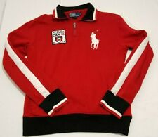 Polo Ralph Lauren Canada 2010 Flag Red White Big Pony Quarter Zip Sweater