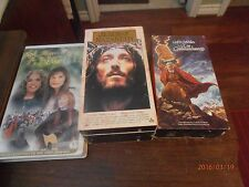 The Ten Commandments & Jesus of Nazareth & Touched by an Angel 3 Lot VHS