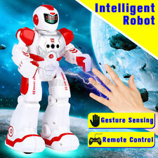 Intelligent Remote Control RC Robot Talking Walking Shooting Music Action Toys