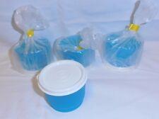 BNIP TUPPERWARE TUPPERCARE Snack Cups (aqua seals) & bonus spoons