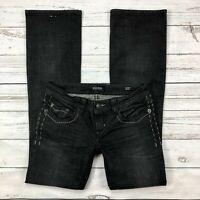 Mek Denim Jeans Size 28 Womens St Petersburg Slim Boot Dark Wash Button Pockets
