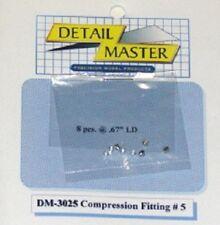 DETAIL MASTER 1/24-1/25 Compression Fitting #5 (8pc) DET3025