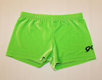 GK ELITE Gymnastics Bar Shorts Lime Green Soft Adult Medium AM!