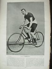 THE SPORTFOLIO PORTRAITS 1896 VINTAGE CYCLING PHOTOGRAPH PRINT U.L. LAMBLEY