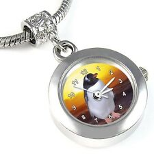 Penguin Silver Quartz Watch European Spacer Charm Bead For Bracelet EBA132