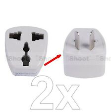 2 US United States EU Europe UK-AU Australia Power Plug Adapter Travel Converter