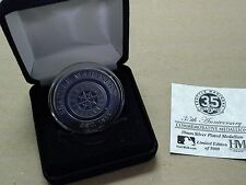 Seattle Mariners 2012 35th Anniversary Commemorative Medallion Silver Plated