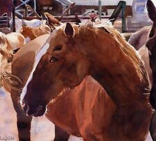 Giclee Print Thoroughbred Warmblood Quarter Horse Painting Art