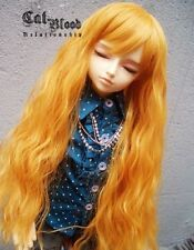 "9-10"" hair 1/3 SD BJD Wig super dollfie wavy curly orange-yellow AOD DOD DK DZ"