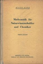 Sirk, Mathematik f Naturwissenschaft Chemie, Einführung Anwendungen höhere Mathe
