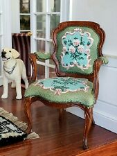 Dollhouse Miniature Artisan Nancy Summers Hand Painted Chair Signed 1:12
