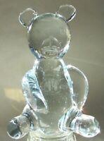 Beautiful Clear Glass Crystal Sitting Teddy Bear 6 Inches High NEW