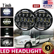 85W Dot 7'' Round Led Headlights Hi-Lo Beam For Freightliner Century Class Jeep (Fits: More than one vehicle)