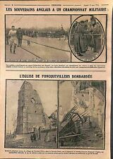 King George V Military Camp Aldershot Hampshire/Ruines Foncquevillers WWI 1915