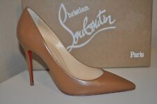 Christian Louboutin DECOLLETE 100 MM Pointy Toe Pump Shoe NOISETTE Tan Brown 4.5