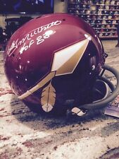 Bobby Mitchell TK Redskins Spear Helmet FS Full Size - Hall of Fame Inscription