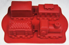 Train Christmas 4 pc Silicone Mold - NEW