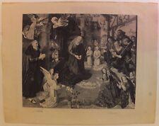 L'adoration des bergers, gravure de J-S Payrau après Hugo Van der Goes, fin XIXe