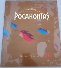 POCAHONTAS Artist Portfolio - Walt Disney Masterpiece - 4 Lithograph Prints -Z06
