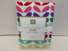 Pottery Barn Teen Petal Pop Flannel Bed Standard Pillow case Sham colorful