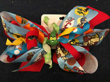 New 6� Custom Boutique Stacked Hairbow Dr. Seuss Cat In The Hat Grinch Thing 1 2