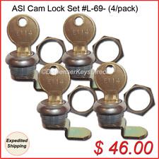 "(ASI) American Specialties Inc - ""#L-69"" Cam Lock Set  (4/pack.)"