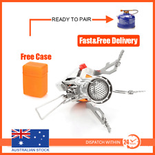 Outdoor Picnic Gas Burner Portable Backpacking Camping Hiking Mini Stove Silver
