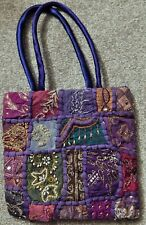 "RARE HANDMADE INDIA PATCHWORK ""QUILT"" LIKE BAG, BROAD ARRAY OF STYLES & COLORS"