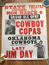 Grand Ole Opry Cowboy Copas Boxing Style Concert Poster