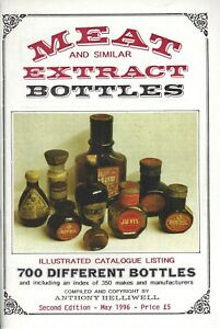 700+ Antique Glass Meat Similar Extract Bottles - Types History / Book + Values