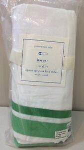 NIP Pottery Barn Kids Baby Bright Green Classic HARPER Cotton Crib Bed Skirt