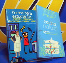 Book two books on natural cocinacocina-kitchen for students